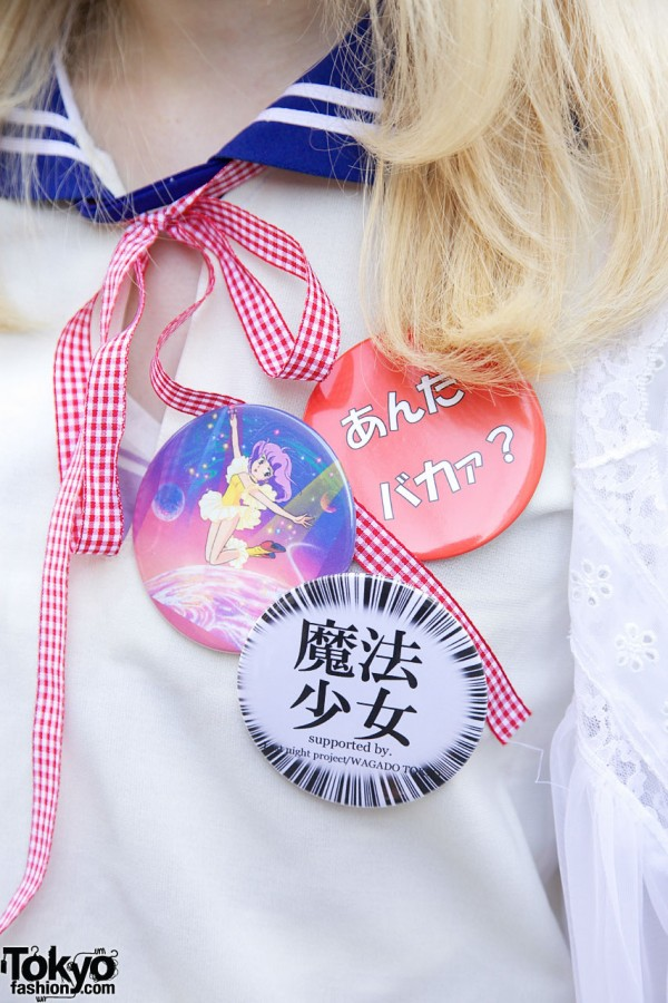 Fashionable Buttons in Harajuku