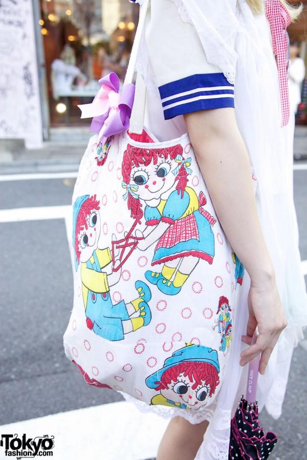 Raggedy Ann & Andy Bag From Kinji Harajuku