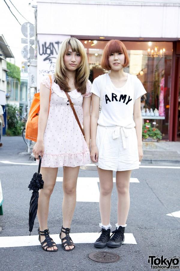 Girls in Harajuku w/ summer style