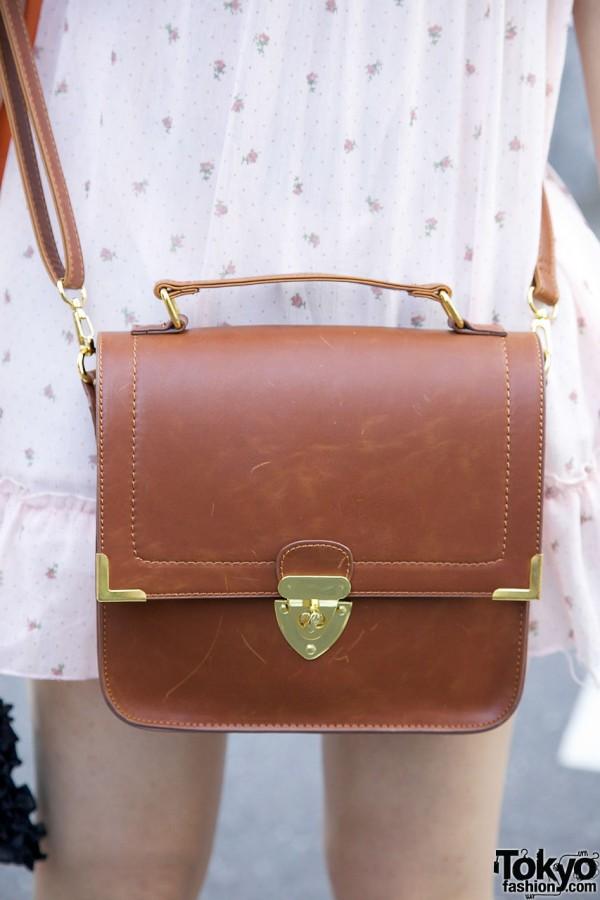 Leather cross-body bag from Heather