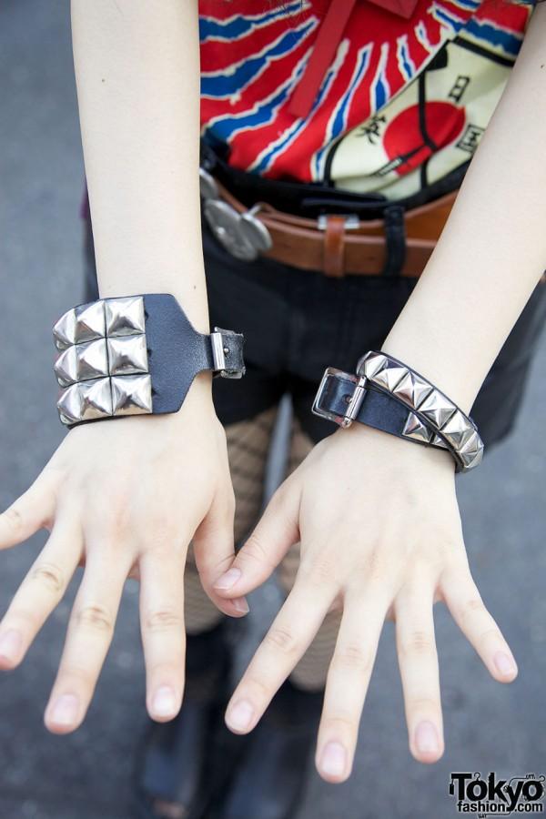 Studded Bracelets in Harajuku