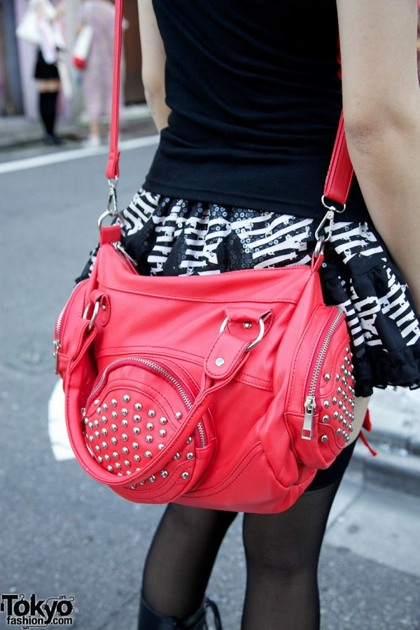 tutuHA Studded Leather Bag