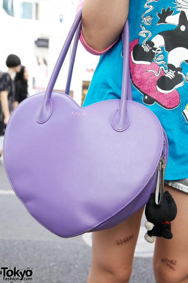 Heart Shaped Handbag from Milk Harajuku
