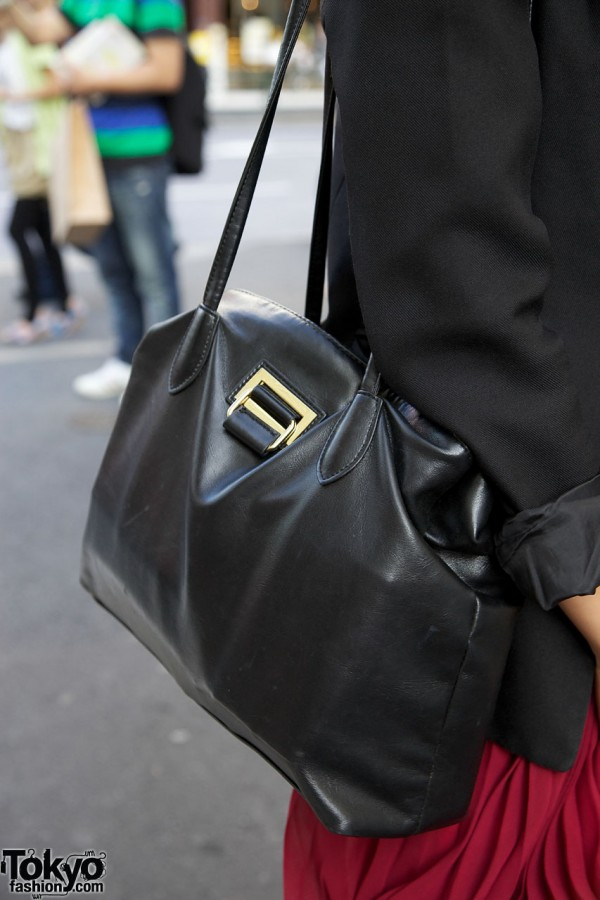 Black leather Emoda purse