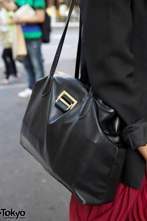 Black leather Emoda purse