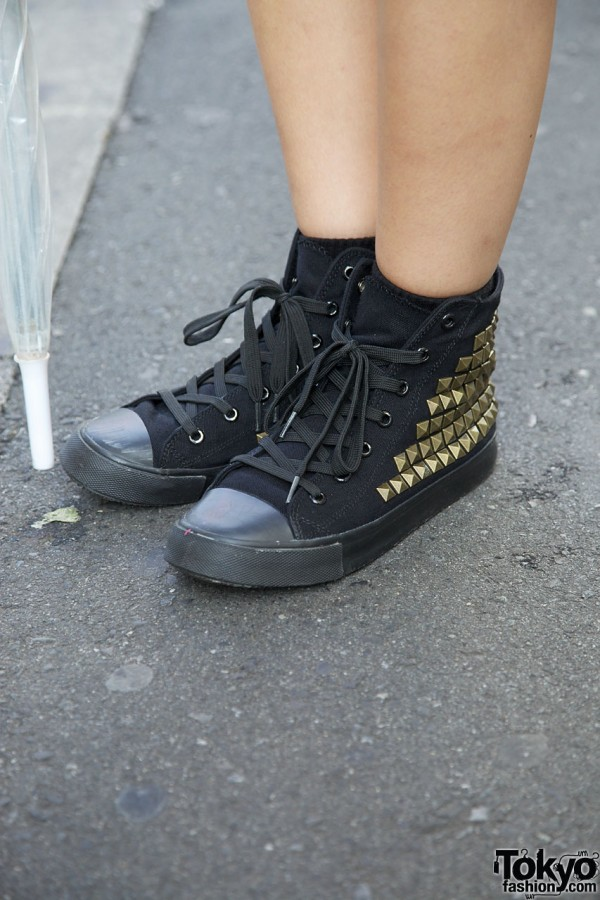 WC by Chinatsu Wakatsuki studded sneakers