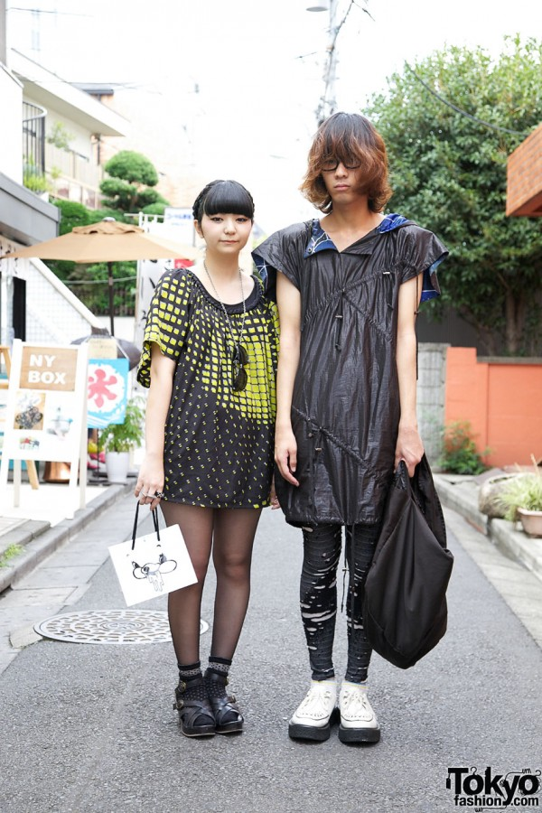 Geometric Print Dress vs. Drawstring Top & Leggings