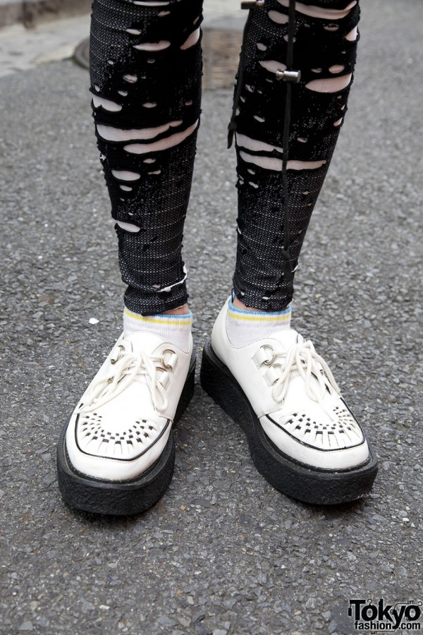 White George Cox platform shoes