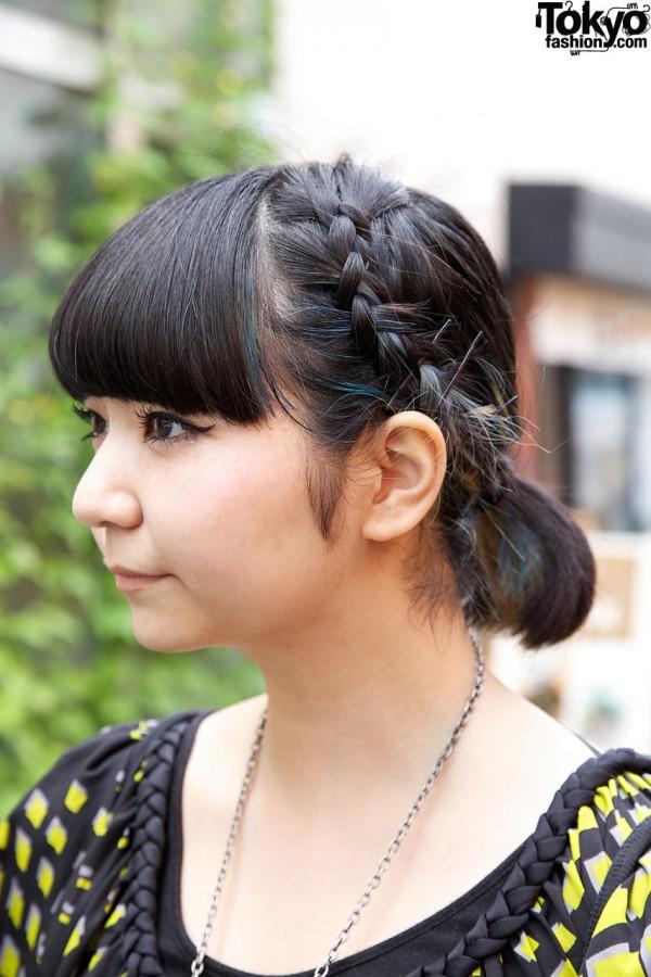 Japanese girl w/ braided hair