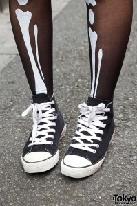 Converse High Top Sneakers & Bone Stockings