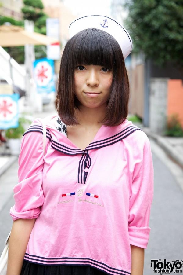 Resale pink sailor blouse
