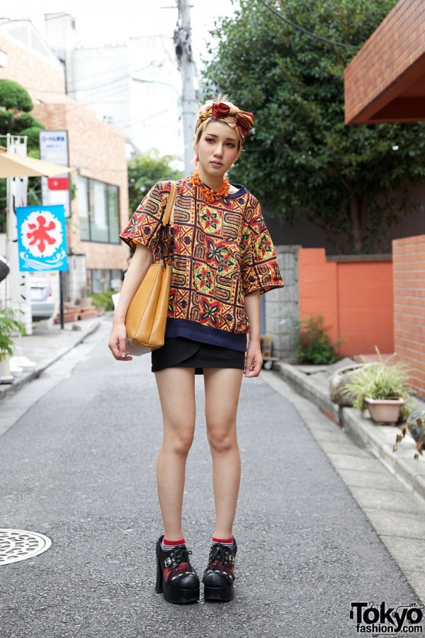 UTA ethnic top & mini skirt