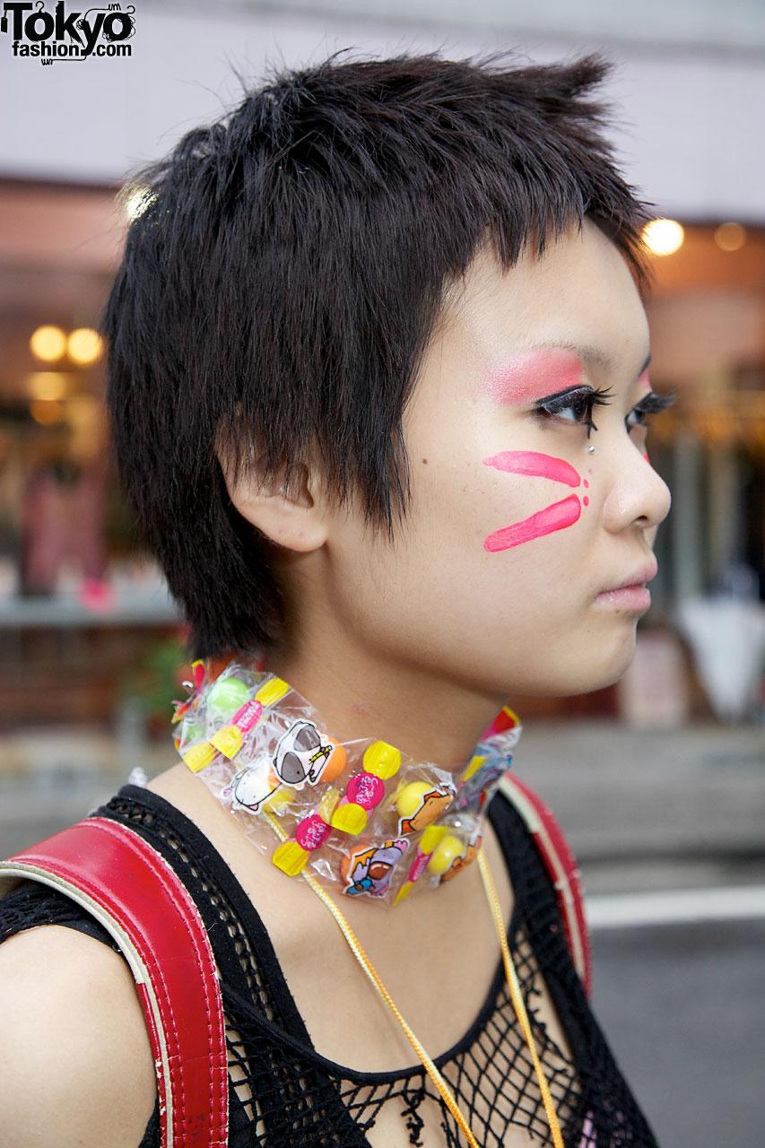 Harajuku Punk Gothic Girl Amp Guy W Face Paint Platform