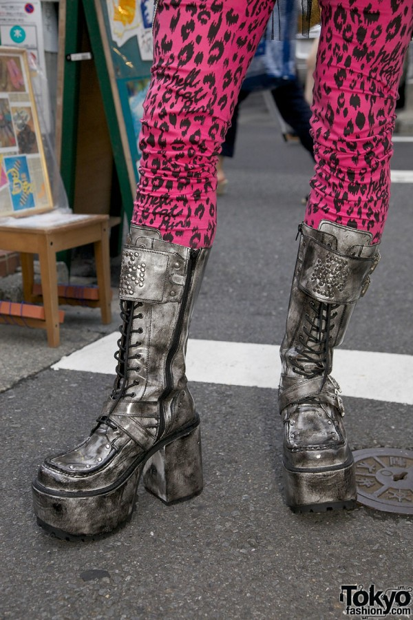Yosuke Platform Boots in Harajuku
