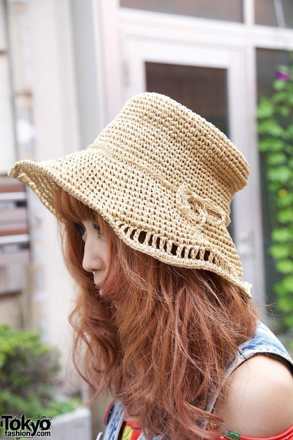 Floppy Straw Hat in Harajuku
