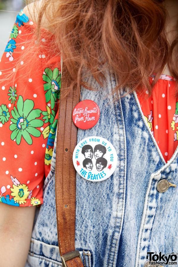 The Beatles Vintage Button
