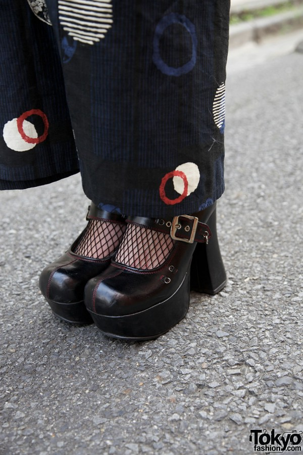 Gothic Platform Shoes in Harajuku