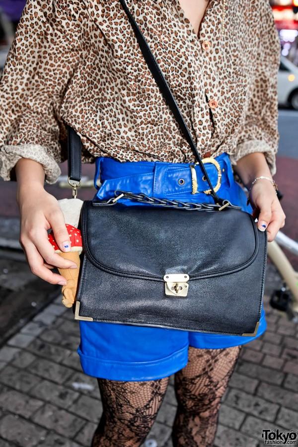 Vintage Leather Envelope Shoulder Bag
