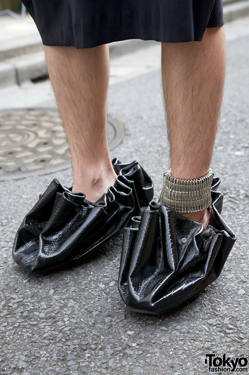 Bunka Fashion Student W Upside Down Shirt Amp Unique Footwear