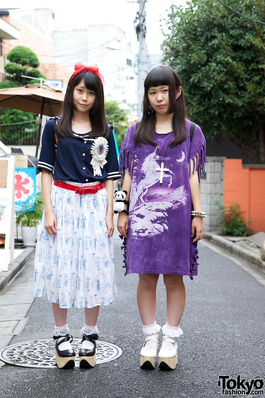 Japanese High School Girls Harajuku Fashion