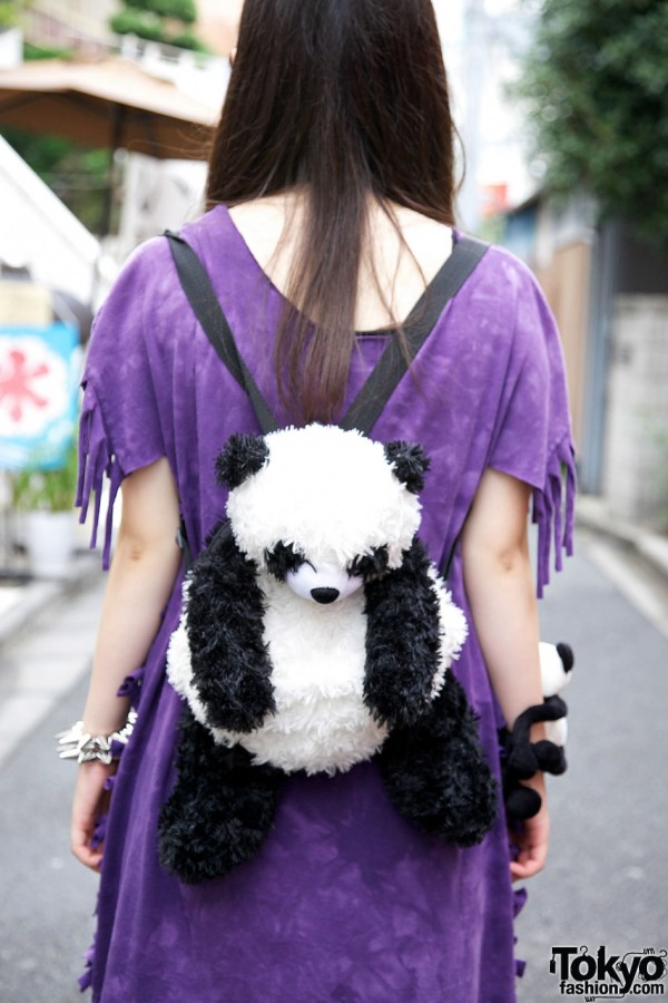 Plush Panda Backpack in Harajuku