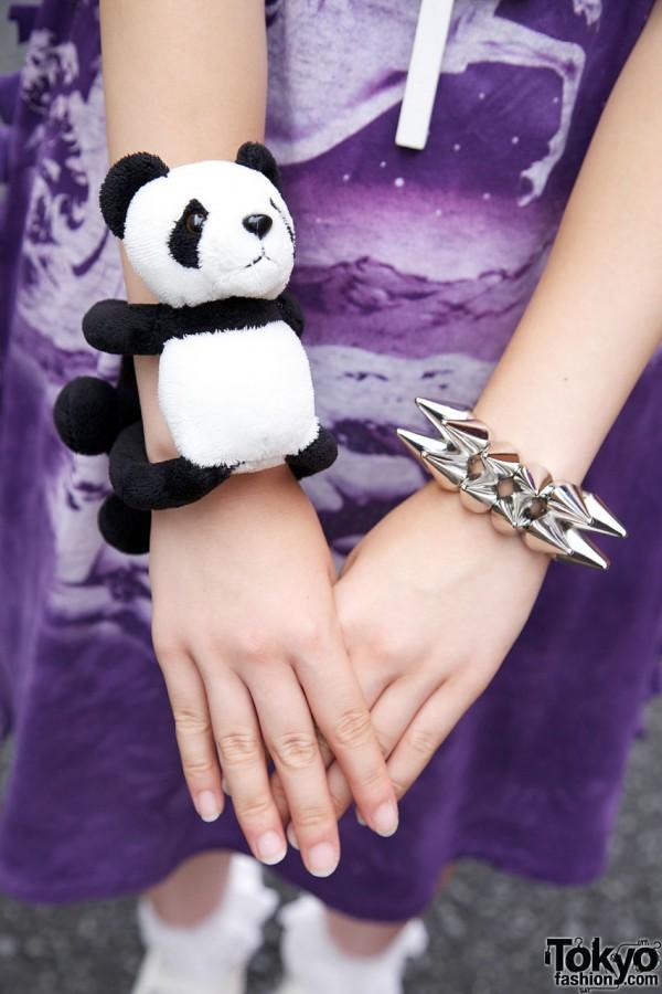 Panda x Monomania Spike Bracelet