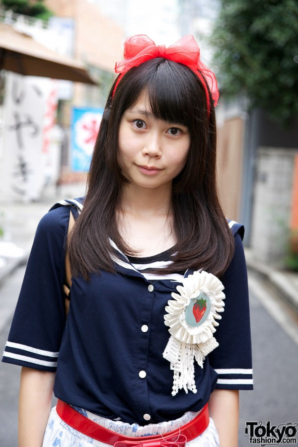 Sailor Uniform Top in Harajuku