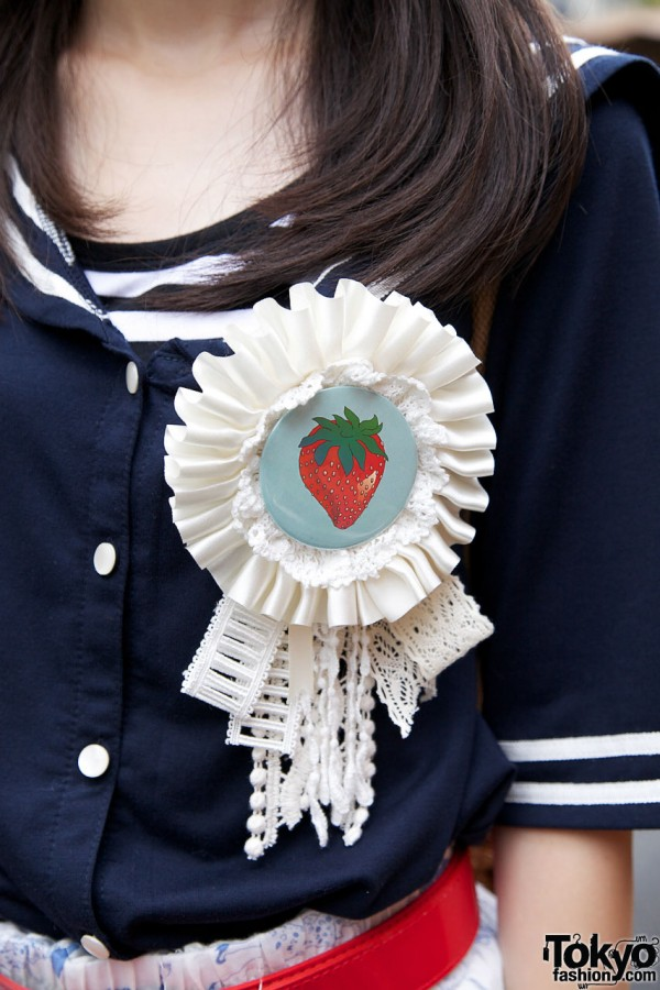 Bunkaya Zakkaten Strawberry Badge