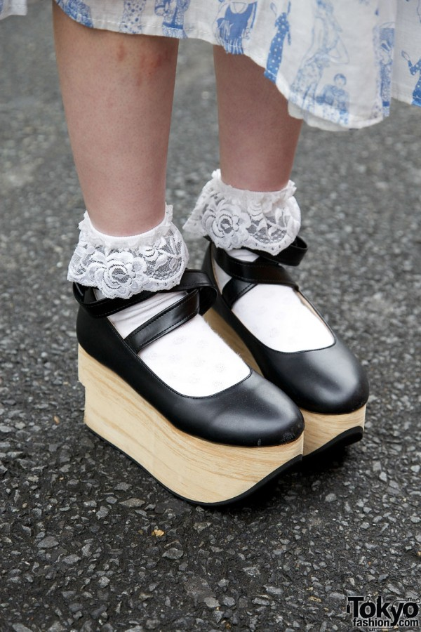 Black Rocking Horse Shoes in Harajuku