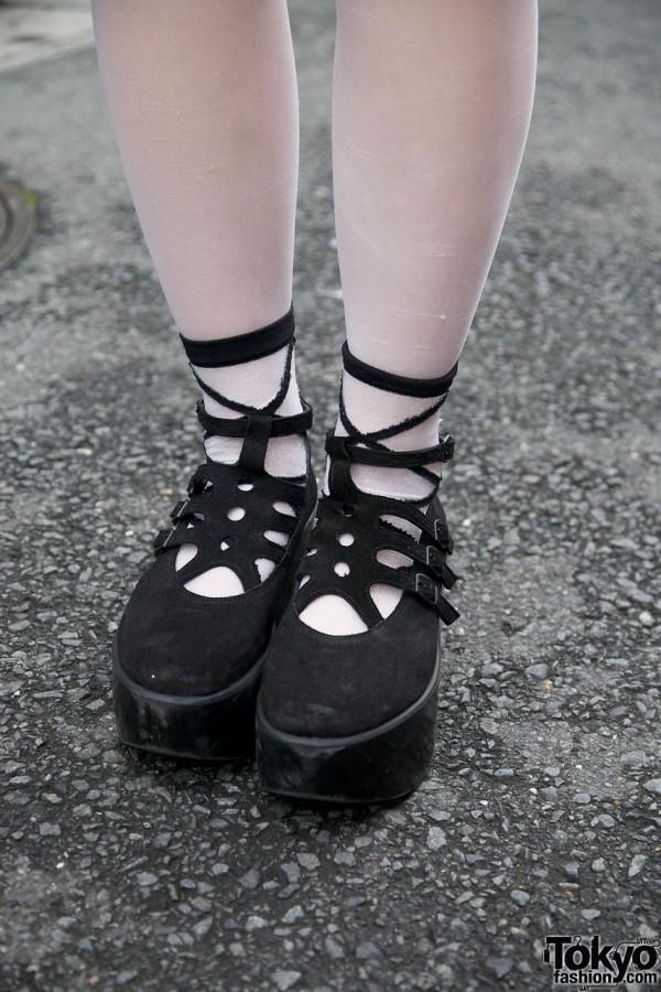Tokyo Bopper black suede shoes