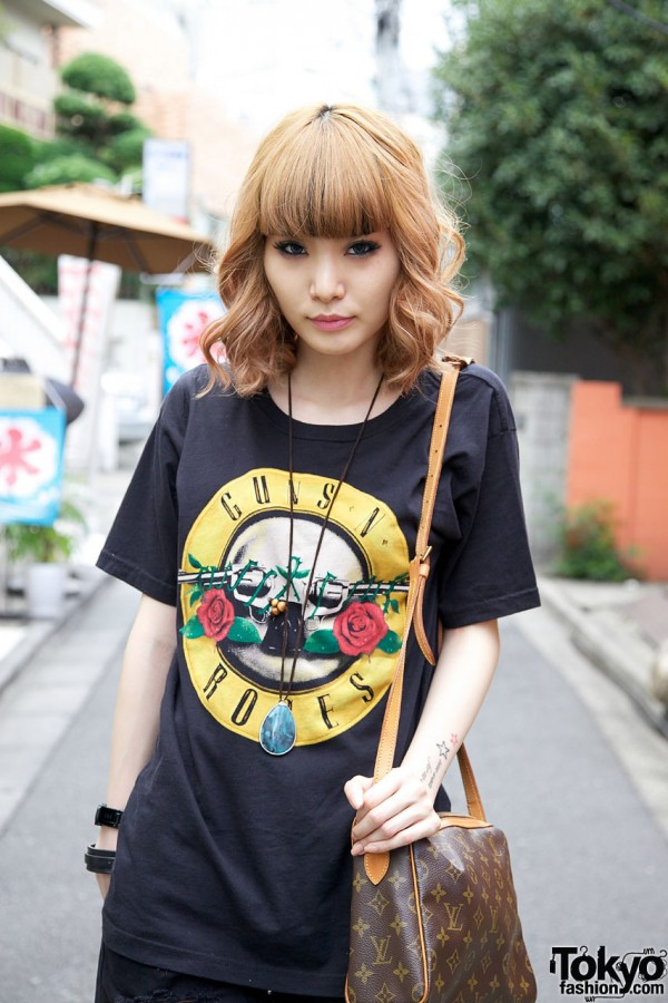 Guns N Roses T-shirt in Harajuku