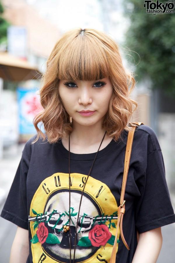 Strawberry Blonde Japanese Girl