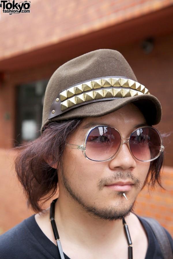 Candy sunglasses & cap w/ studs