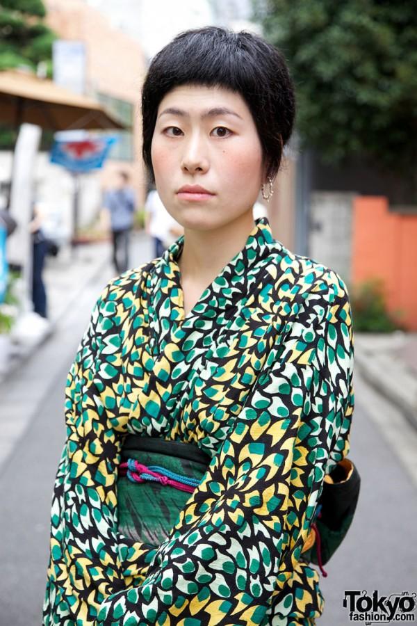 Colorful kimono & obi sash