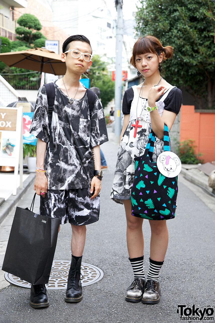 Laitinen shirt & shorts vs. resale skirt & lace-up vest