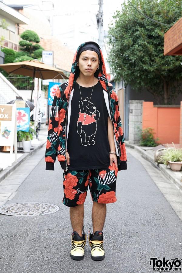 Joyrich Harajuku Guy in Rose Hoodie