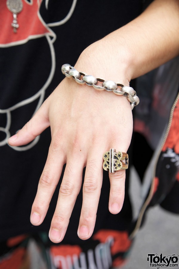 Chain Bracelet & Dollar Sign Ring