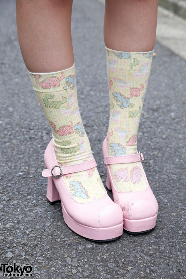 Pink Body Line Fairy Kei Shoes