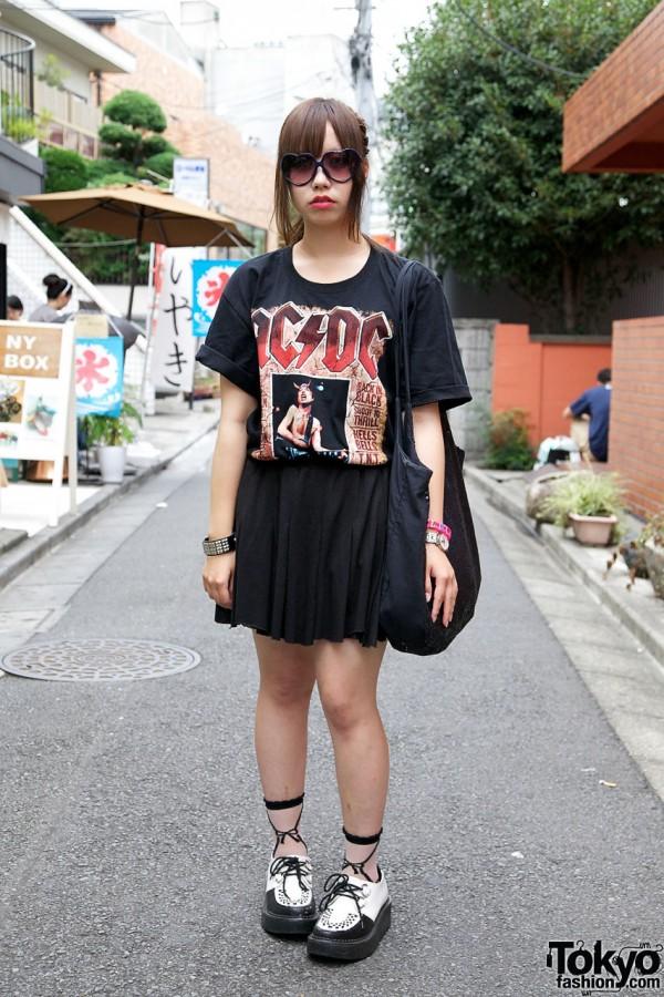 AC/DC shirt & Hanjiro skirt