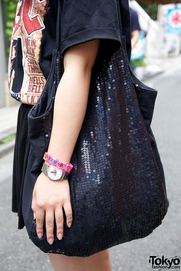 Vivienned Westwood watch & Malaika sequined bag