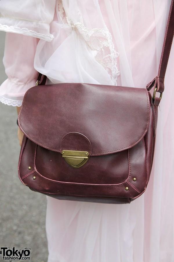 Leather Shoulder Bag in Harajuku