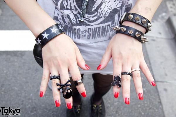 Skull Rings & Studded Bracelets