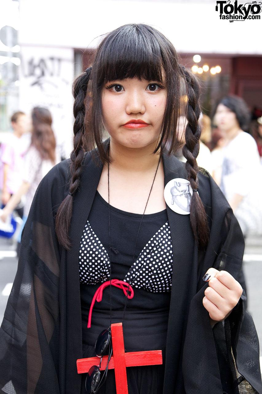 Goth Girl's Bikini Top,