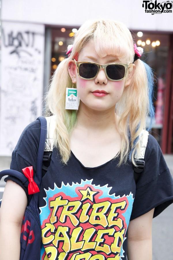 Blonde Hair & Sunglasses in Harajuku