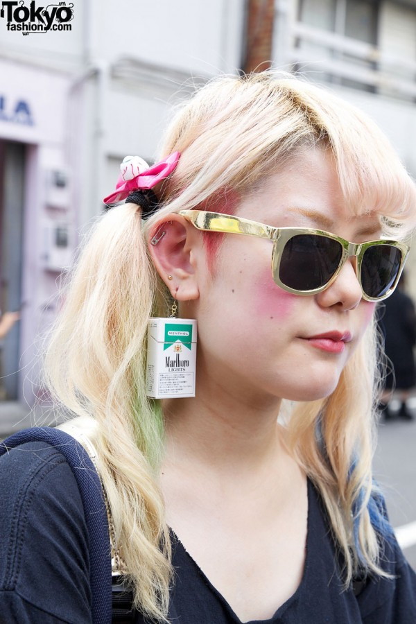 Safety Pin Earring in Harajuku