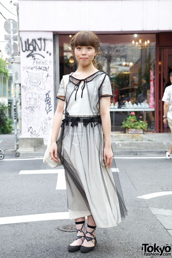 Japanese Girl S Sheer Comme Des Garcons Dress Amp Theatre