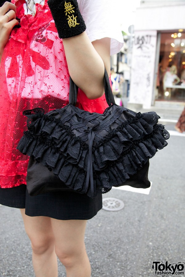 Black Lace Handbag from Kinji Harajuku