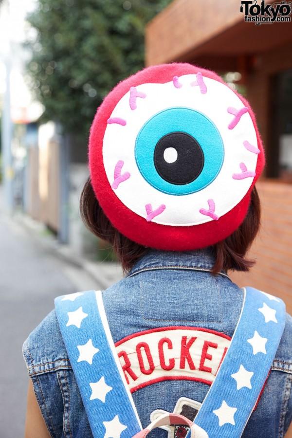 Eyeball Beret in Harajuku