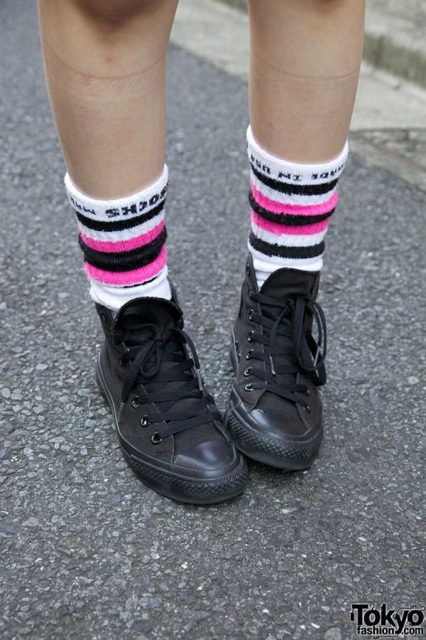 Tube Socks & Converse in Harajuku