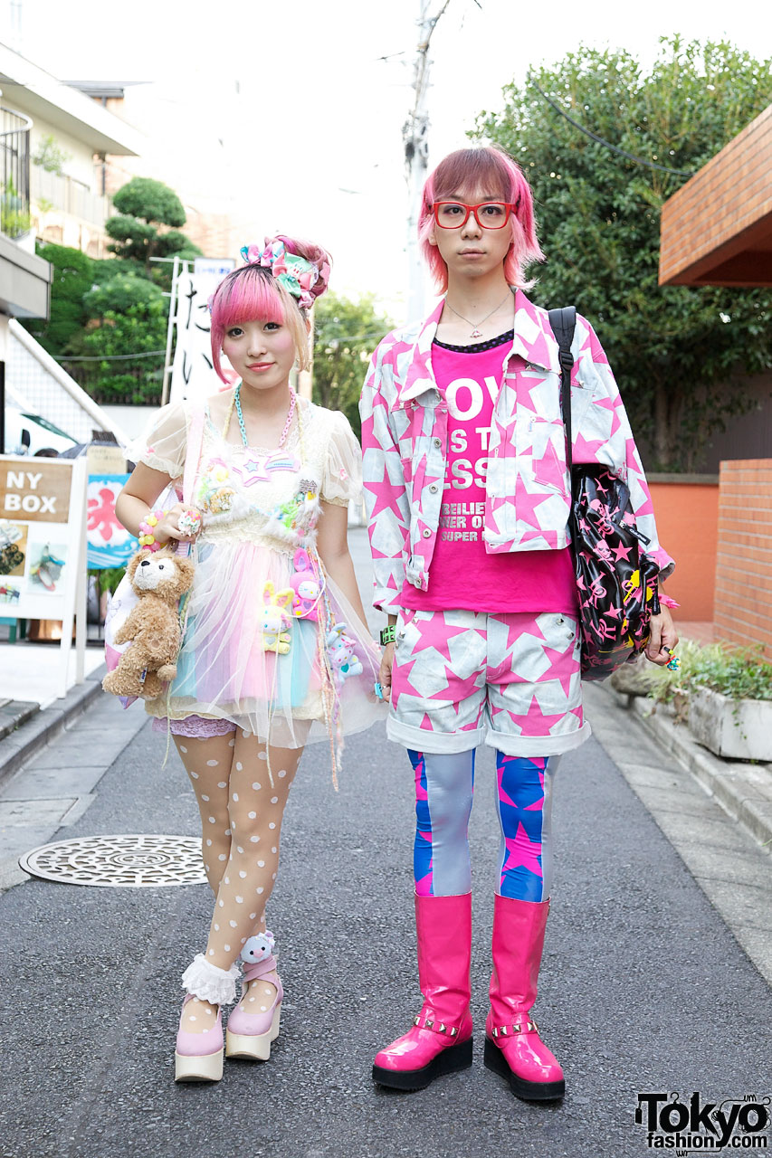 Kumamiki & Junnyan's Super-Colorful Harajuku Street Style